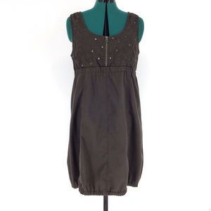 Soya Concept Brown Bubble Skirt Pinafore Dress, 40